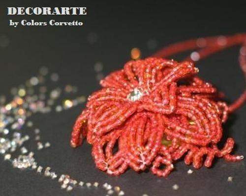 Collana fiore corallo