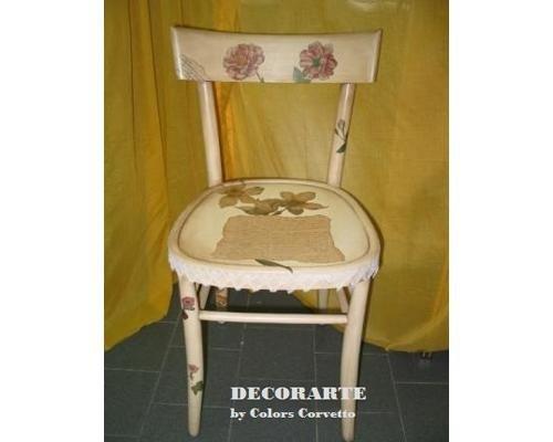 Decoupage su sedia
