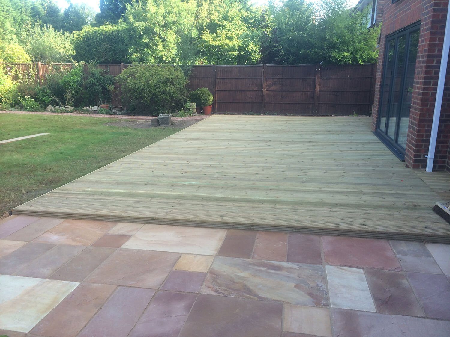 decking with wood