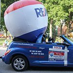 Promotional Balloon in car