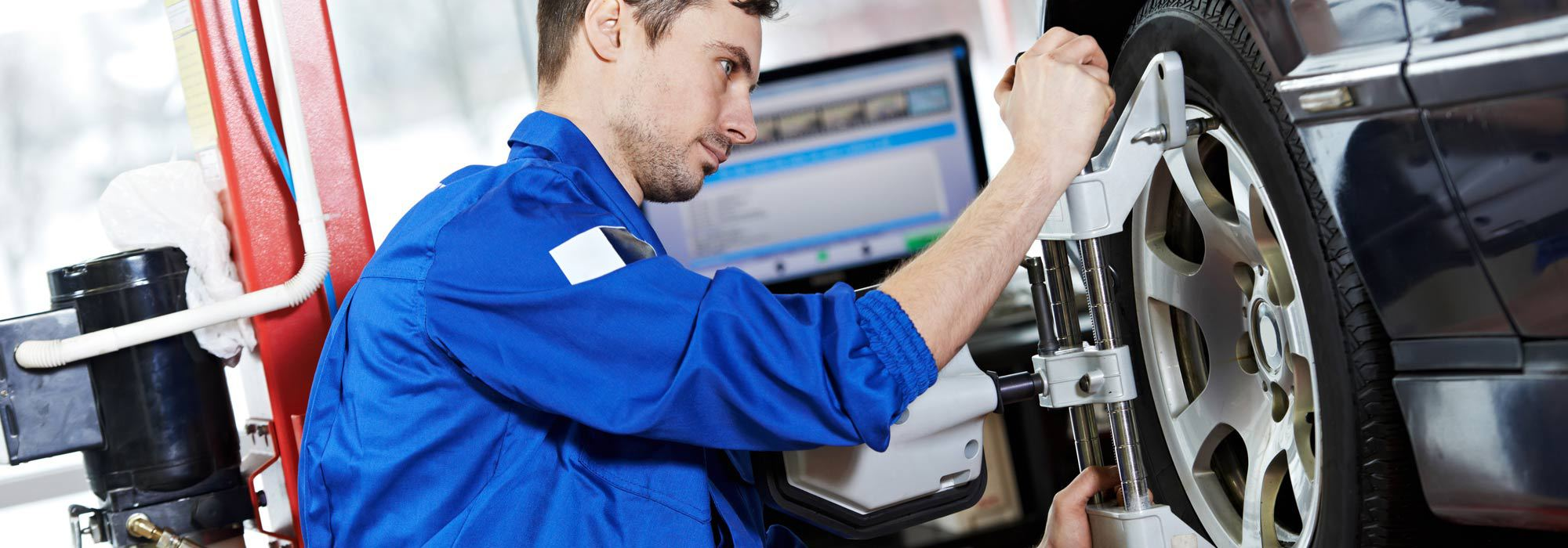 Professional performing wheel alignment in Lorain, OH