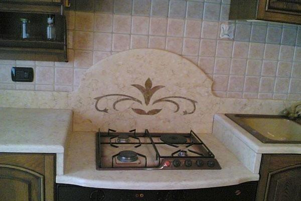 fornello con decorazione