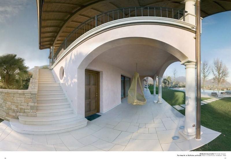 scale per esterni con portico e ringhiera