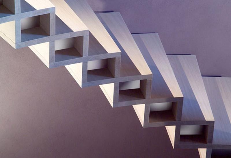 particolare di una rampa di scale