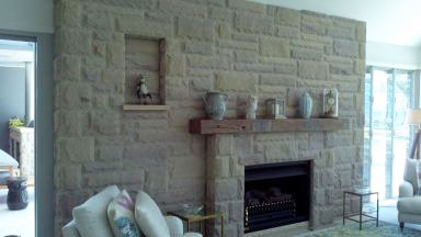 wollombi sandstone home fireplace