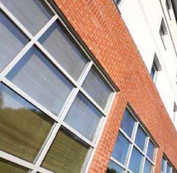 View of ultra secure aluminium doors
