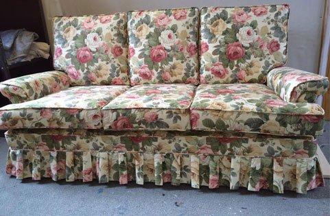 floral printed sofa