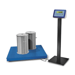 Piattaforma con visore pesare regnicoli bilance
