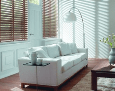 Interior decoration with blinds