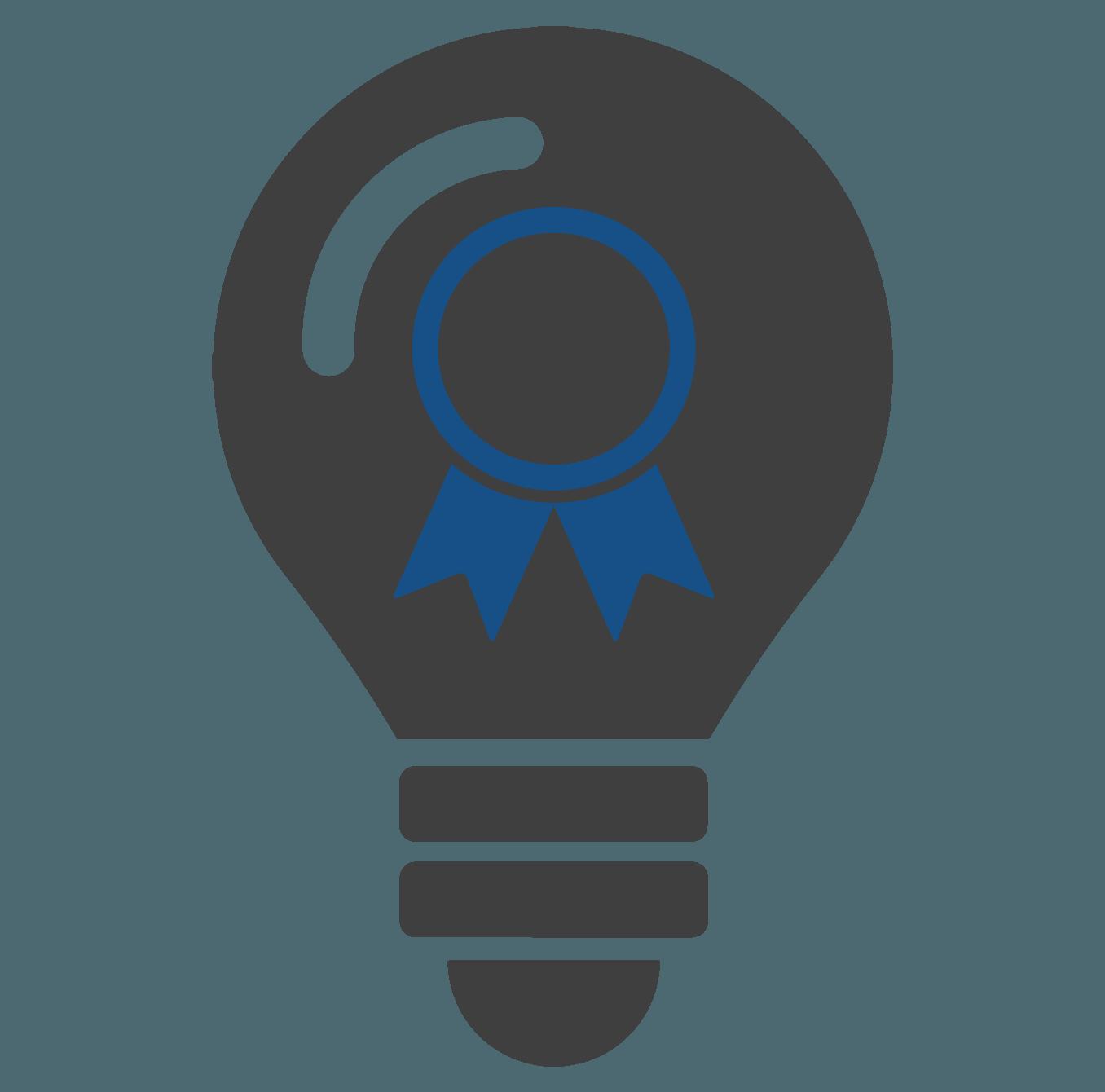 icona lampadina con coccarda