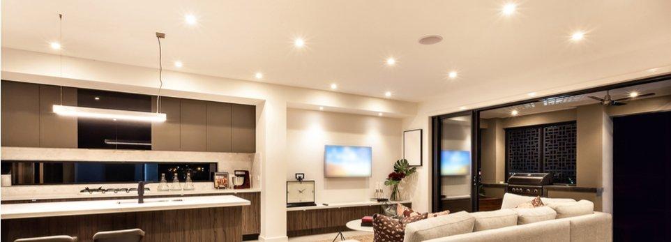 illuminazione moderna di un soggiorno