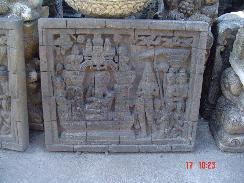 pannello scolpito a mano in pietra