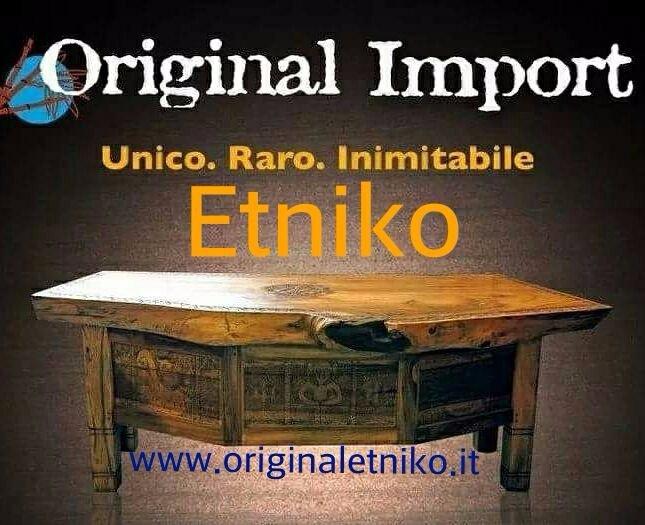 panchina in legno etnico