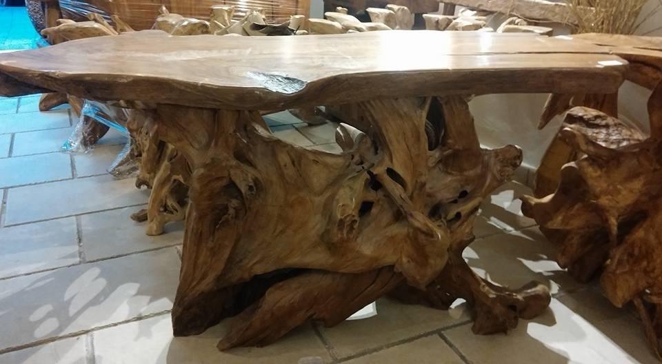 tavolo legno etnico