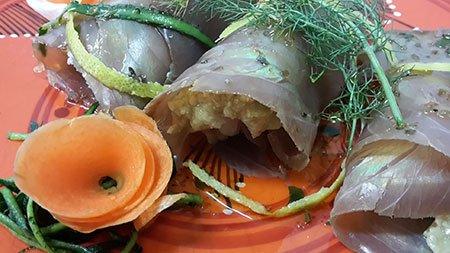 dei filetti di pesce