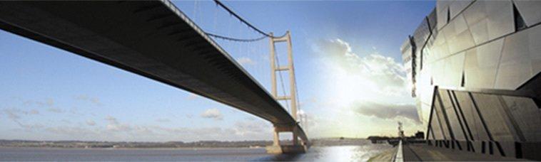 A long suspension bridge