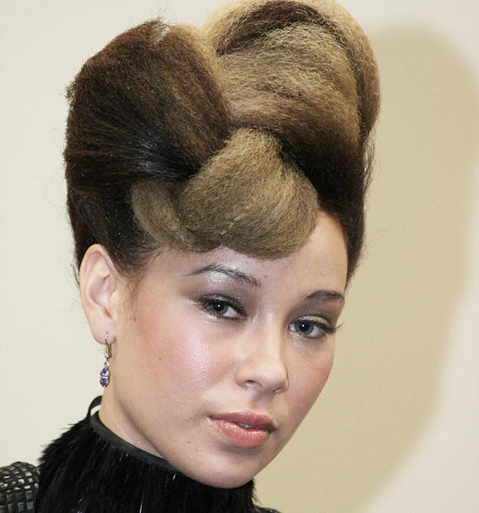 styled hair at the salon