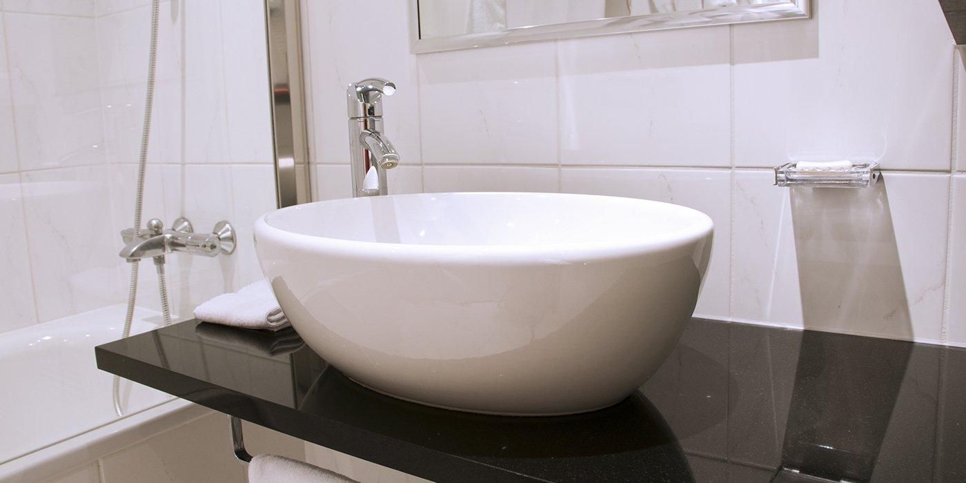Un lavabo minimal tondeggiante
