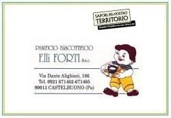 biglietto da visita del Panificio Biscottificio F.lli Forti snc
