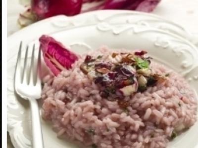risotto con il radicchio e gorgonzola
