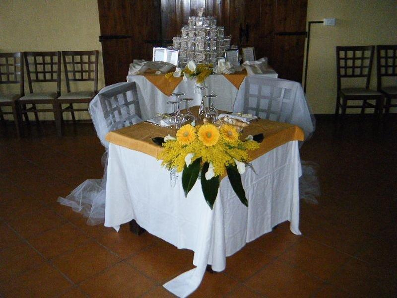Decorazione tavolo nuziale - La Stalla