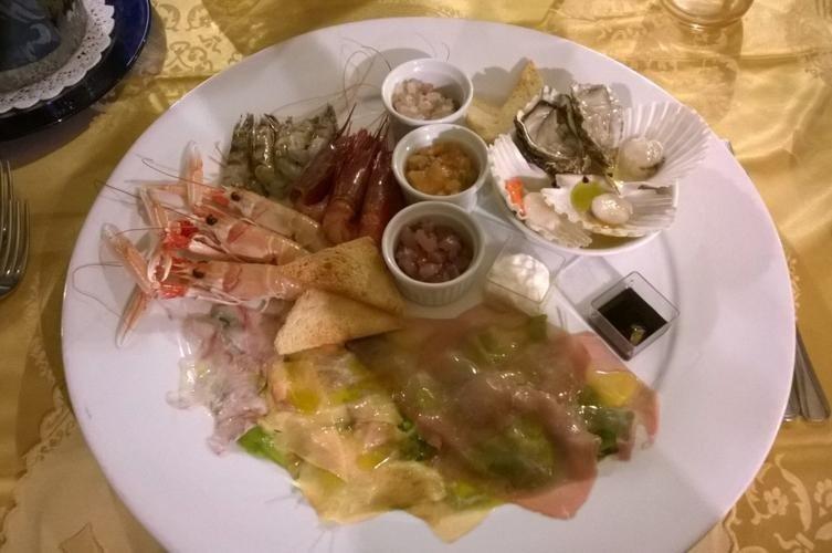 Antipasti di pesce - Ristorante LA STALLA