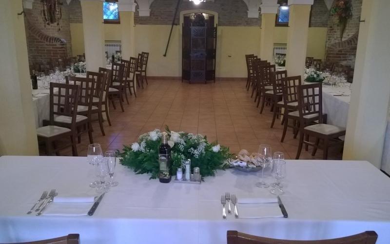 Allestimento tavolo matrimonio - Ristorante cucina ferrarese LA STALLA