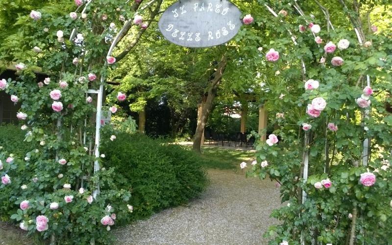 Entrance to the rose garden - Ferrara