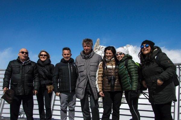 relatori e staff a Punta Helbronner