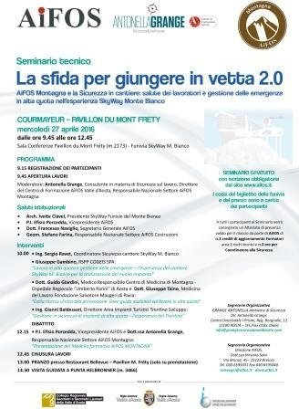 la sfida per giungere in vetta 2.0 SkyWay