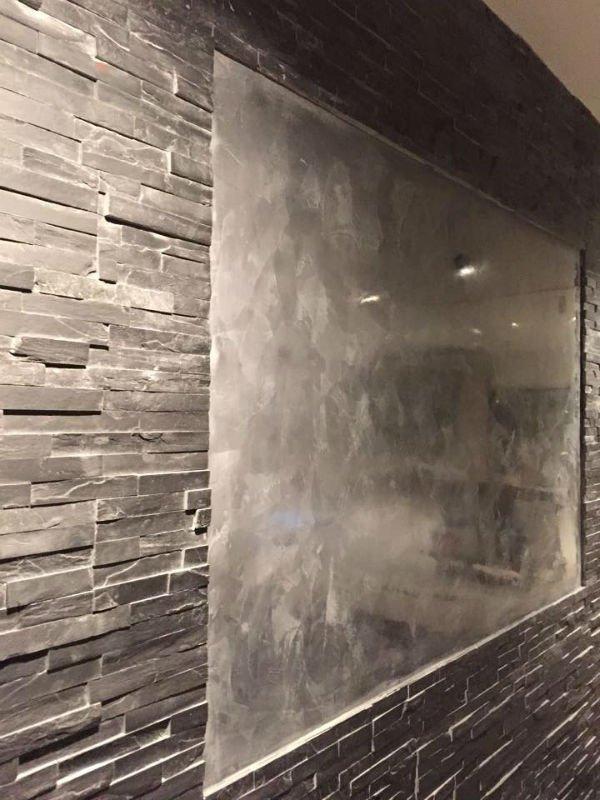 venetian plastery portfolio grey chrome wall and mirror