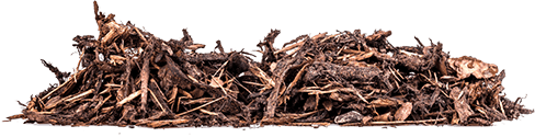 Wood chips ready for use in the garden