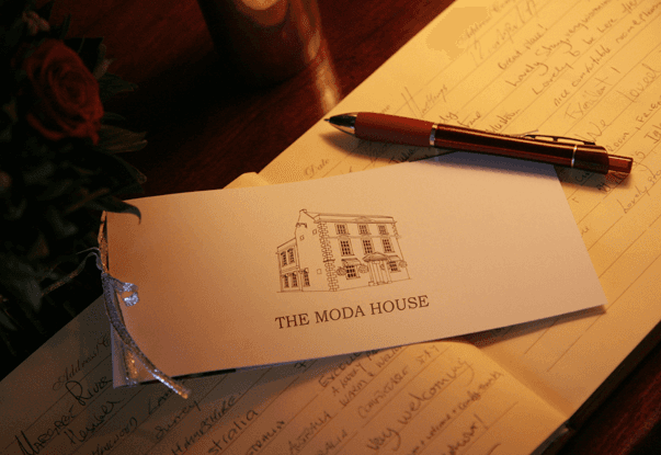 The Moda House B&B Guest Book Chipping Sodbury, Bristol