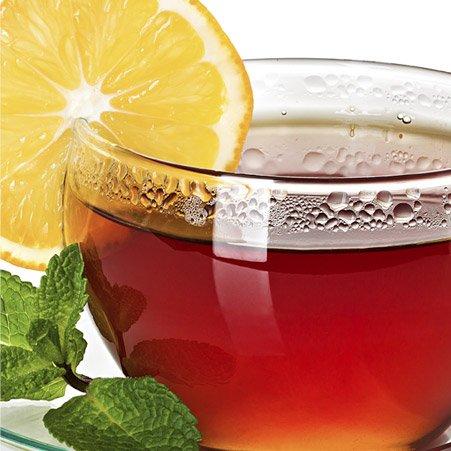 Tè al limone con menta