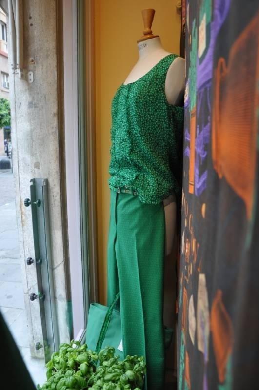 vestito verde da donna