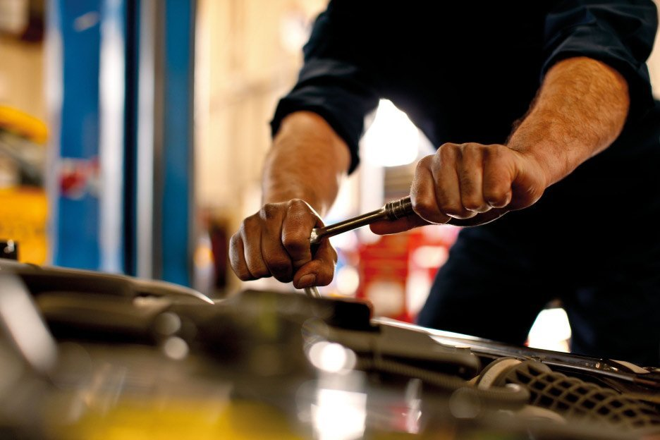 One of our mechanics providing services in Campbelltown