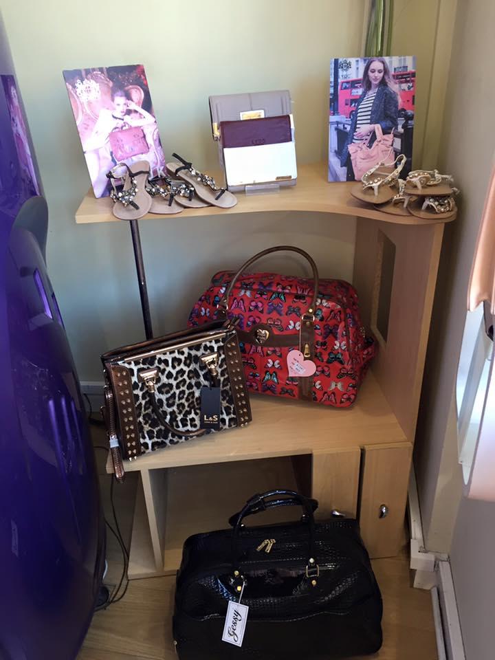 handbags on display