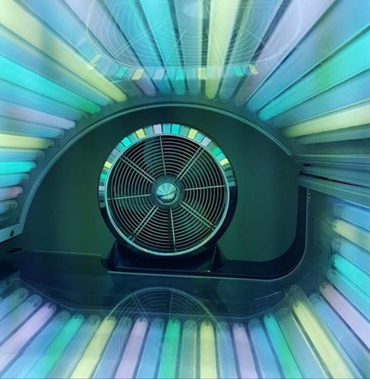 Abstract image of a fan