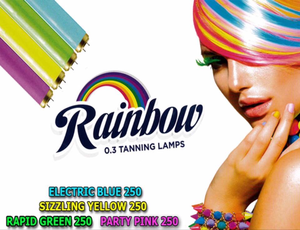 Rainbow tanning flyer