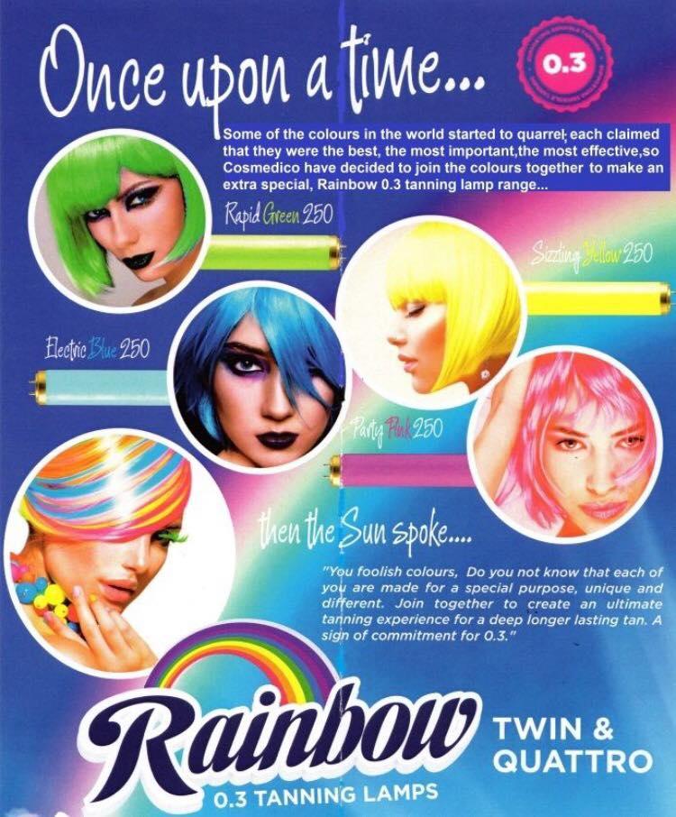 Rainbow lamps flyer