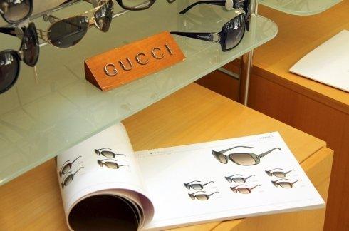 Esposizione occhiali Gucci