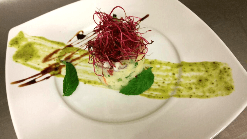 flan di pesce e verdure