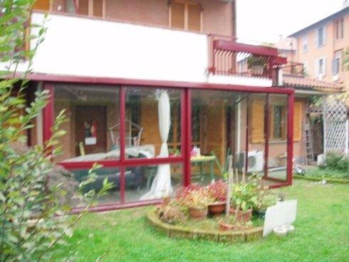 veranda con vetri