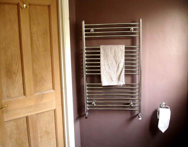 New bathroom towel radiator