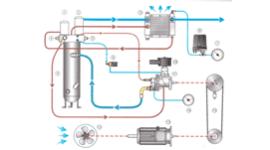 Compressore rotativo a vite