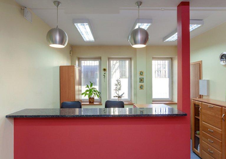 medical reception area