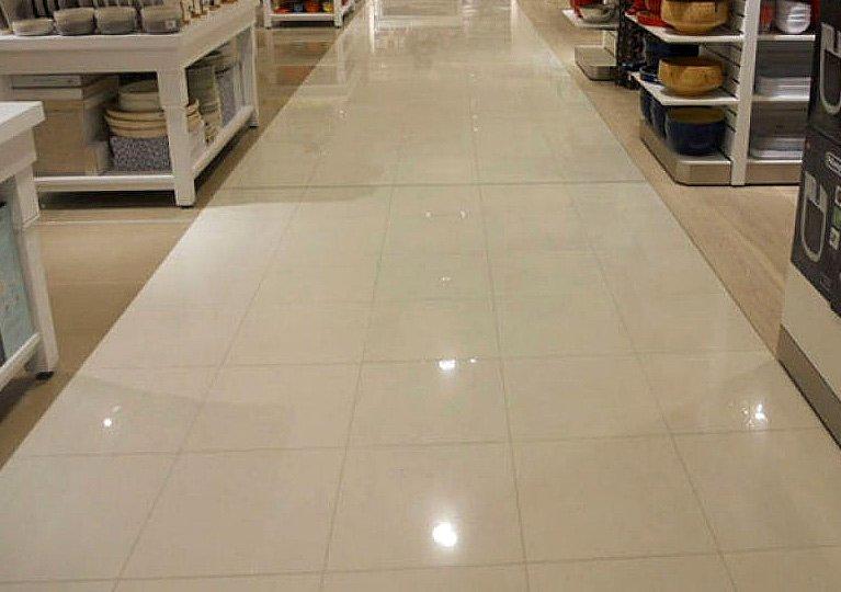 polished tile floor