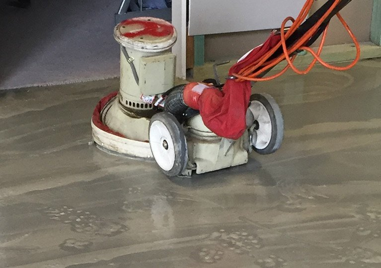 stripping and sealing floor