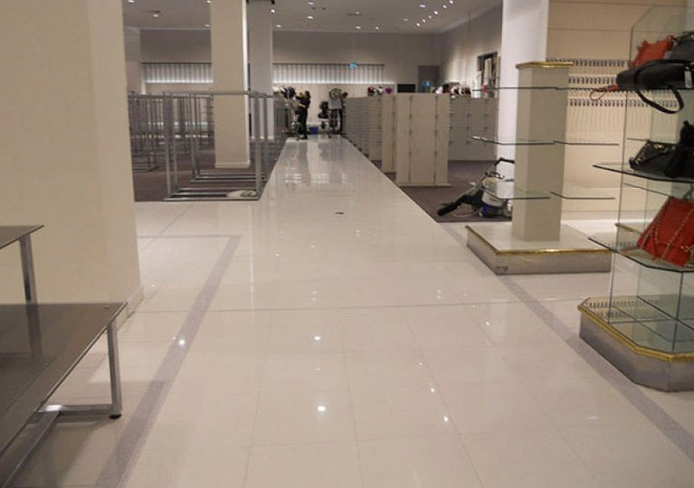 polished store floor