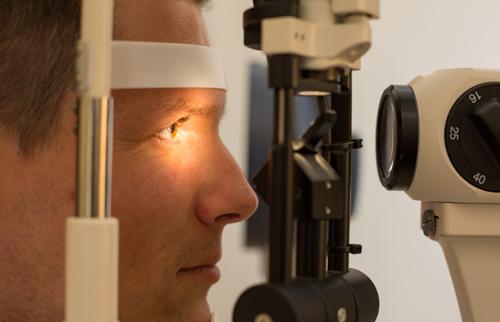 Man during eye test